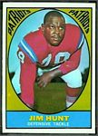Jim Hunt 1967 Topps football card
