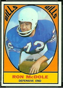 Ron McDole 1967 Topps football card