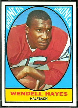 Wendell Hayes 1967 Topps football card