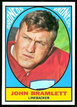 John Bramlett 1967 Topps rookie football card