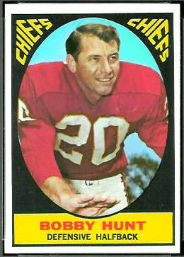 Bobby Hunt 1967 Topps football card