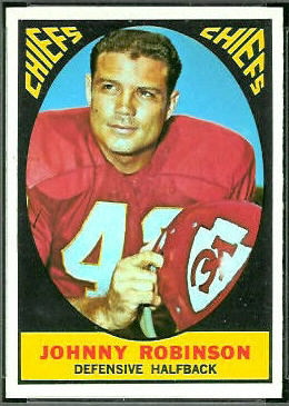 Johnny Robinson 1967 Topps football card