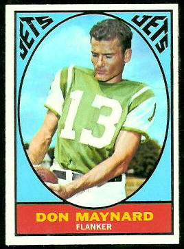 Don Maynard 1967 Topps football card
