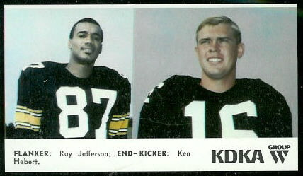 Flanker - End 1968 KDKA Steelers football card