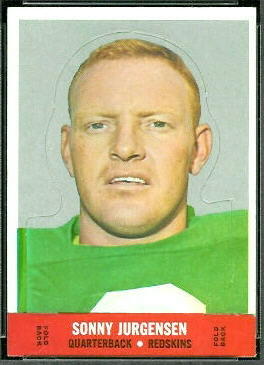 Sonny Jurgensen 1968 Topps Stand Up football card
