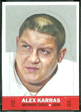 Alex Karras 1968 Topps Stand Up football card
