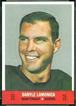 Daryle Lamonica 1968 Topps Stand Up Insert Card