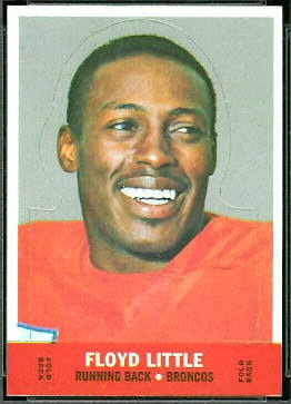 Floyd Little 1968 Topps Stand Up insert football card