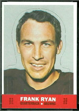 Frank Ryan 1968 Topps Stand Up football card