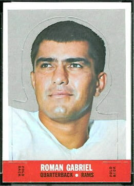 Roman Gabriel 1968 Topps Stand Up football card