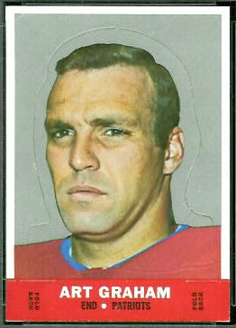 Art Graham 1968 Topps Stand Up football card