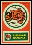 1968 Topps Test Team Patches Cincinnati Bengals