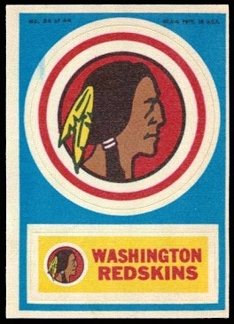Washington Redskins 1968 Topps Test Team Patches football card