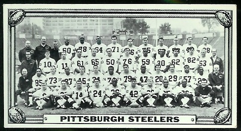 Pittsburgh Steelers Team 1968 Topps Test Team Photos football card