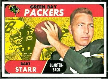 1968 Topps football card #1: Bart Starr