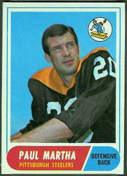 1968 Topps Paul Martha football card