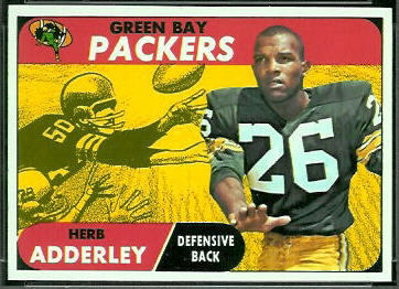 Herb Adderley 1968 Topps football card
