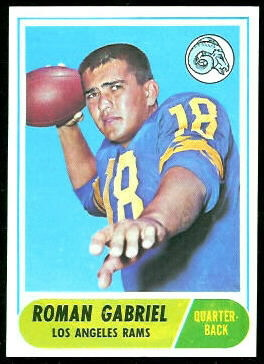 Roman Gabriel 1968 Topps football card