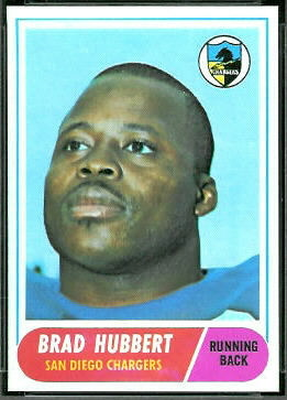 Brad Hubbert 1968 Topps football card