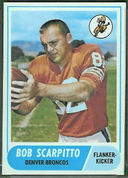 Bob Scarpitto 1968 Topps football card