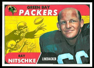 Ray Nitschke 1968 Topps football card