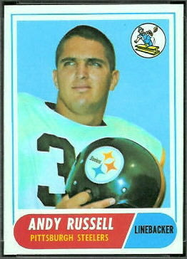 Andy Russell 1968 Topps rookie football card