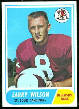 Larry Wilson 1968 Topps football card