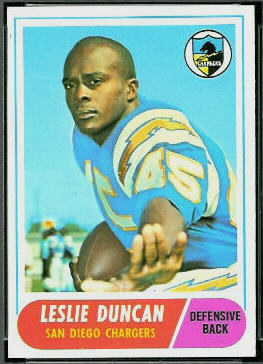 Speedy Duncan 1968 Topps football card