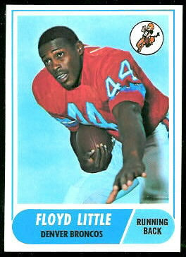 Floyd Little 1968 Topps football card