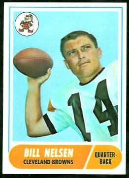 Bill Nelsen 1968 Topps football card