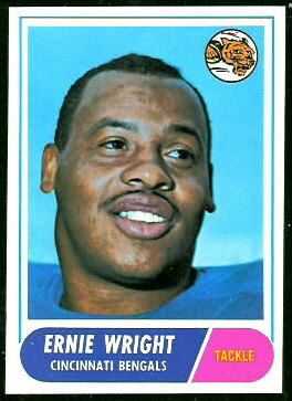 Ernie Wright 1968 Topps football card