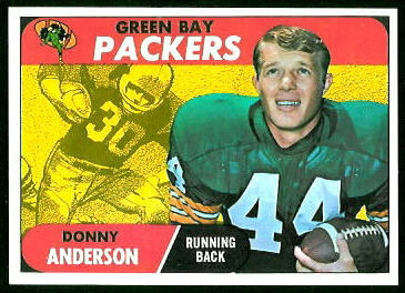 Donny Anderson 1968 Topps rookie football card