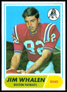 Jim Whalen 1968 Topps football card