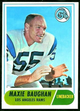 Maxie Baughan 1968 Topps football card