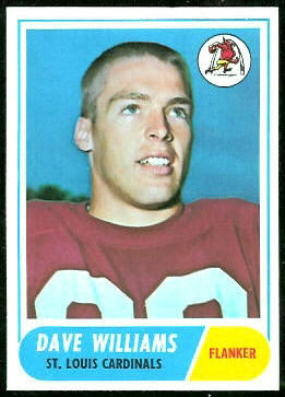 Dave Williams 1968 Topps football card