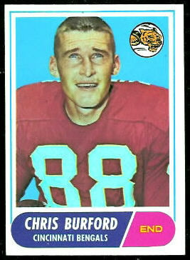 Chris Burford 1968 Topps football card