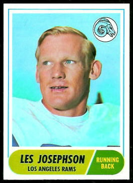 Les Josephson 1968 Topps football card