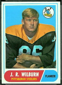 1968 Topps J.R. Wilburn football card