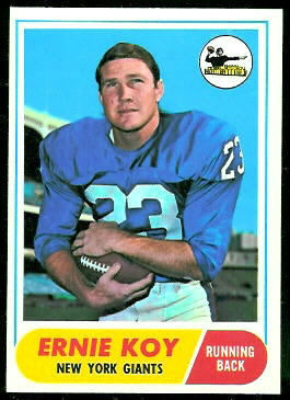 Ernie Koy 1968 Topps football card