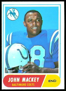 John Mackey 1968 Topps football card