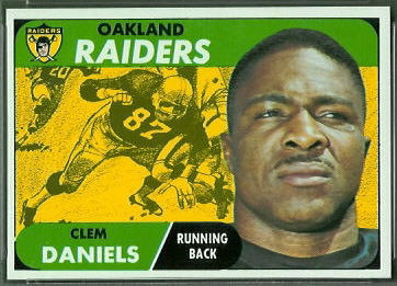 Clem Daniels 1968 Topps football card