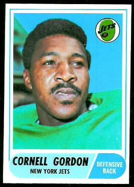 Cornell Gordon 1968 Topps football card