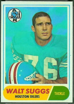 Walt Suggs 1968 Topps football card