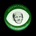 Ray Nitscke 1969 Drenk's Potato Chips Green Bay Packers pin
