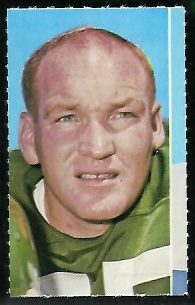 Maxie Baughan 1969 Glendale Stamps football card