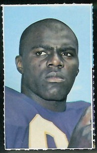 Alan Page 1969 Glendale Stamps football card