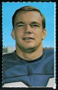 Tucker Frederickson 1969 Glendale Stamps football card