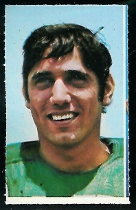 Joe Namath 1969 Glendale Stamps football card