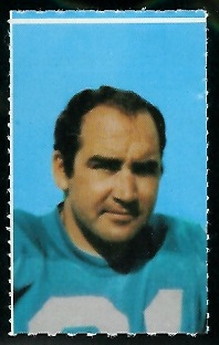 John Hadl 1969 Glendale Stamps football card