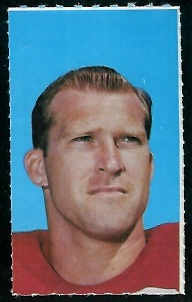 Ken Willard 1969 Glendale Stamps football card